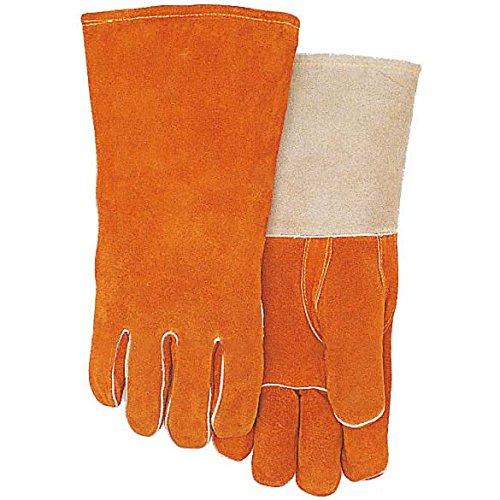 GAIHU Anti-Scratch Sicherheit Okklusion Handschuhe Gelb Hochwertige Doppel-Soft-Leder Haustier Schützende Dicke Handschuhe (Doppel-manschette Leder Handschuhe)