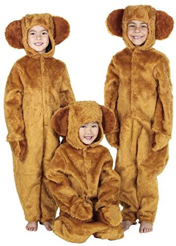 Jungen Mädchen Honigfarbene Bär Buch Woche Einteiler Tier Halloween Kostüm Kleid Outfit 4-12 Jahre - Braun, Braun, 8-10 years (140cms)