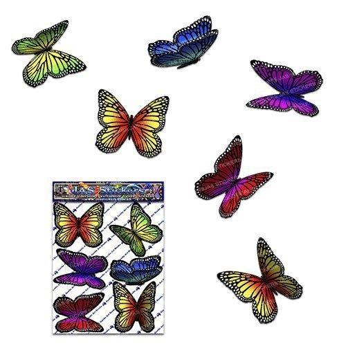 Schmetterling mehrfarbige Tier Auto Aufkleber - ST00028MC_SML - JAS Aufkleber