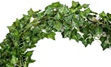 72 FEET-12 Big Value Artificial Fake Hanging Plant Leaves Garland Home Garden Wall Decoration English Ivy Silk Greenery Wedding Garlands