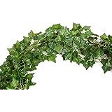 72 FEET-12 Big Value Artificial Hanging Plant Green Leaves Ivy Garland Wall Decoration Silk Foliage Wedding Vines