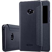 Nillkin Sparkle - Carcasa protectora y antideslizante con ventana inteligente s-view para Xiaomi Mi Note 2 - Negro