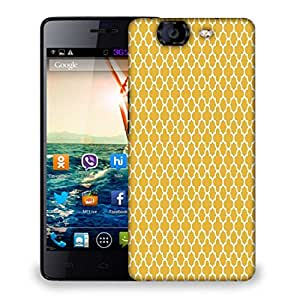 Snoogg Abstract White Yellow Pattern Designer Protective Phone Back Case Cover For Micromax Canvas Knight A350