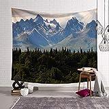 Unbekannt Wandteppiche Berge Landschaft Wälder Tapisserie Wandbehang Tapisserien Hippie Hippie Tapete Home Decoration 130X150Cm Als Foto