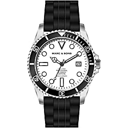 Marc & Sons Professional Automatic Diving Watch Diver Watch-MSD 044WS