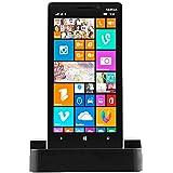 iProtect Micro USB Docking Station Nokia Lumia 930 Ladestation + USB Datenkabel Ladekabel Schwarz