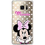 S7 Edge TPU Funda Gel Transparente Carcasa Case Bumper de Impactos y Anti-Arañazos Espalda Cover, Cartoon, Dibujos animados, Disney Special Colección Collection, Minnie Mouse Lunar, Galaxy S7 Edge