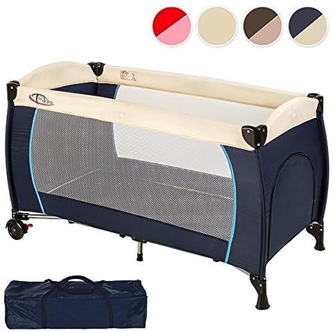 TecTake Lit parapluie pliant avec sac de transport et sur roulettes - diverses couleurs au choix - (Bleu   no. 402416)