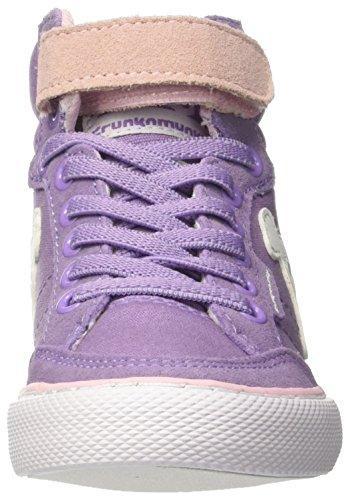 DrunknMunky Boston Classic, Chaussures de Tennis fille Viola (Lavanda/Light Pink)