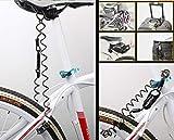 MUTANG Mini Tragbare Fahrradschloss Anti-Diebstahl Rücksetzbare 3-stellige Kombination Fahrradschloss Frühling Kombination Kabelschloss Diebstahlsicherungen Schwarz - 6