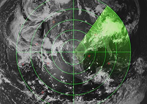 A1 | Air Traffic Bildschirm Radar Poster Größe 60 x 90cm-Militärplakat-Geschenk # 16576 Radar-bildschirm