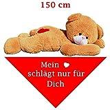 """150 cm riesen Teddy mit Tuch """"Mein Herz schlägt nur für dich"""""""