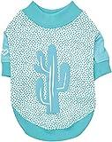 Pinkaholic New York NAQA-TS7204 Hunde T-Shirt, Saguaro, Small, blau
