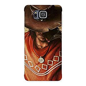 Gorgeous Cowboy Multicolor Back Case Cover for Galaxy Alpha