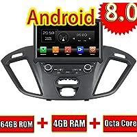 ROADYAKO 8 Pulgadas Android 8.0 para Ford Transit Custom 2014 2015 2016 2017 Radio estéreo para