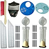 Beekeeping Equipment (combo of 10 item ), Bee veil(Army)-1, Bee Brush-1,Plastic Food Grade Queen gate-2 , Queen Cage-2, Food grade plasticMigration gate-2,Ventilator-2