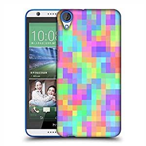 Snoogg pattern digital cubes 2423 Designer Protective Back Case Cover For HTC Desire 820