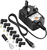 ZOZO™Universal 12W 3V 4.5V 5V 6V 7.5V 9V 12V 1A 1000mA Regulated Multi Voltage Switching Replacement Power Supply Adapter Charger PSU for Household Electronic Devices Routers Speakers LCD CCTV Cameras TV box and USB Power Charging Devices and Smart Phone Charger