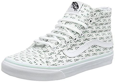 Vans Women UA SK8 Slim Hi-Top Sneakers, White ((Sayings) True White), 7 UK 40 1/2 EU