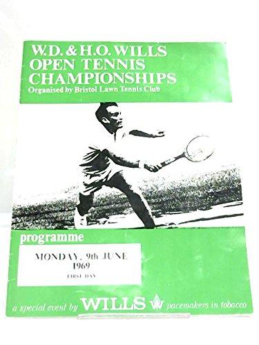 Wills Open Tennis Championship 1969 Programme par Anon