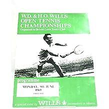 Wills Open Tennis Championship 1969 Programme
