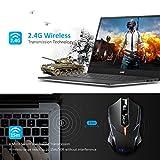 Wireless Mouse, VicTsing 2.4G USB Cordless Optical Gaming & Office Ergonomic Mice with 7 Quiet Click Buttons, 5 Adjustable DPI, Dual Energy Saving, Plug & Play for Laptop, PC, Windows, Mac etc.-Black Bild 1