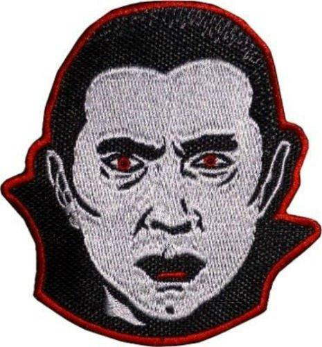 Graf Dracula Patch Nähen oder Bügeln bestickt auf Badge Aufnäher Horror Film Souvenir Vampir Familie Monster Schreien Bela Lugosi Vamp Kostüm Retro (Vamp-nähen)