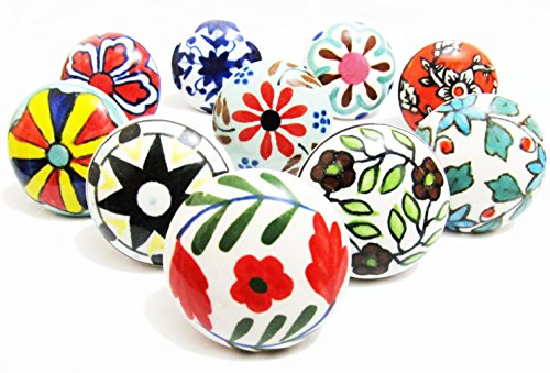 10-x-mix-designs-ceramic-knobs-door-drawer-cupboard-cabinet-pull-by-ivoryblu777