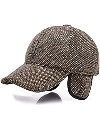 VODRWHAQ Hombre Gorras Sombrero de Mediana Edad y Viejo Invierno Hombre  Viejo Hombre cálido Papá Abuelo Viejo Sombrero Gorra de… 1932283e1eb