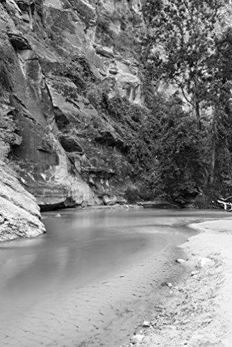 Bilderdepot24 Vlies Fototapete - Virgin River - schwarz Weiss - 100x150 cm - mit Kleister - Poster - Foto auf Tapete - Wandbild - Wandtapete - Vliestapete -