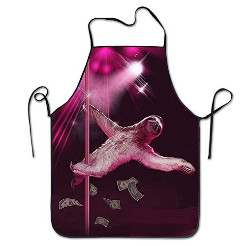 tianjianzulinyouxiangongsi Pole Dancing Stripper Sloth Bib Apron for Women and Men - Adjustable Neck Strap - Restaurant Home Kitchen Apron Bib for Cooking, Grill and Baking, Crafting, Gardening, BBQ