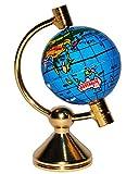 1 Stück _ Globus / Weltkugel - drehbar - Miniatur / Maßstab 1:12 - Zubehör - Puppenstube / Puppenhaus - Reisen Länder Welt / Erde - Diorama - Wohnzimmer - Länder - mit Metall Ständer