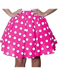 "Polka Dot Rock n Roll Skirt Size 8 to 10 - 22"" Length"