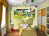 AG Design FTDh 0616  Winnie Puuh Disney, Papier Fototapete Kinderzimmer - 202x90 cm - 1 Teil, Papier, multicolor, 0,1 x 202 x 90 cm