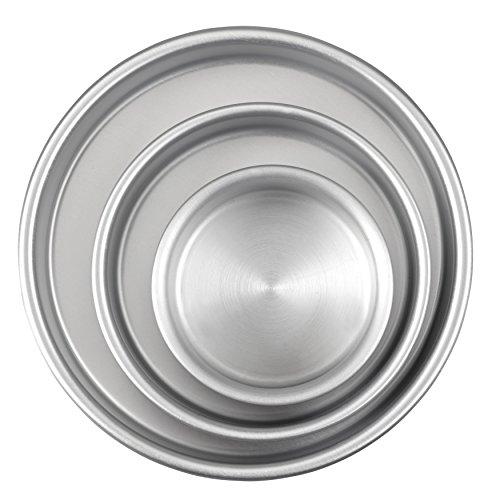 t Runde Kuchen, Aluminium, 3-Teiliges Set aus Kuchenformen 20,3 cm, 15,2 cm und 10,1 cm ()