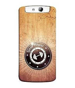 FUSON Designer Back Case Cover for Oppo N1 (Digital Music DJ Systems Linux Power)