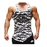Tank Top Herren | Muskelshirt ideal für Sport Gym Fitness & Bodybuilding | Muscle Shirt DOTBUY - Lässig Tanktop - Unterhemd - Achselshirt – Sportshirt (M, Schwarz-Weiß-Tarnung)