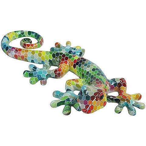 Grande parete multicolore lucertola in poliresina/gecko animali da giardino decorazione