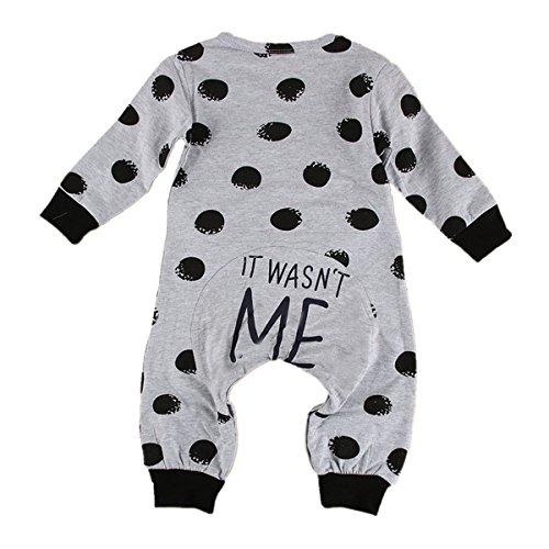 puseky Baby Jungen Mädchen (0-24 Monate) Langarm Spieler Kleidung Strampler 6~12 Monate