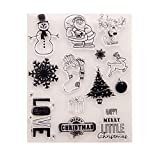 Bout 1 pcs Santa Claus DIY Coque en silicone clair Tampon étirable Joint Album de scrapbooking gaufrage Décor