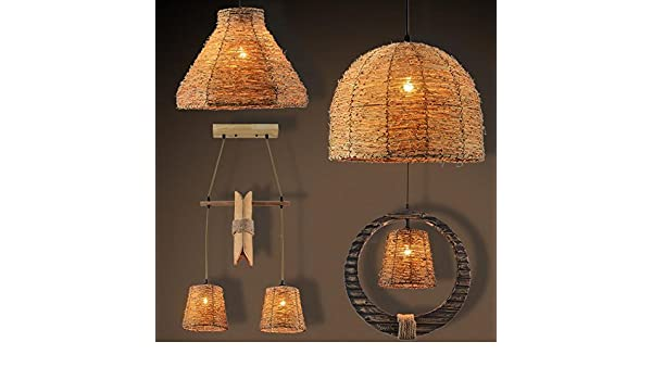 Lampade A Sospensione Allaperto : Tydxsd luci all aperto del lampadario rattan giardino sul balcone