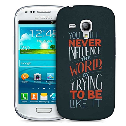 Snoogg Never Be Like It Designer Protective Back Case Cover For Samsung Galaxy S3 Mini  available at amazon for Rs.199