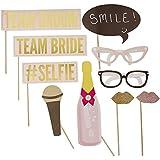 Photo Booth, Foto-Requisite, Fotozubehör, Party Accessoires für die Fotoecke auf Ihrer Hochzeit - 10 teilig
