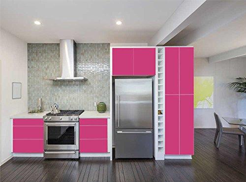 INDIGOS UG - Aufkleber für Küchenschränke 63x500cm - MATT - Folie aus hochwertigem PVC Tapeten Küche Klebefolie Möbel wasserfest für...