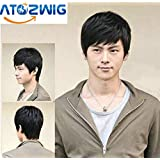 ATOZWIG@2016 New Arrival Hot Selling Men&Women Attractive Fashion Men's Short Straight Layered Wig +Wig Cap