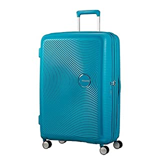 AMERICAN TOURISTER Soundbox – Spinner 67/24 Expandable Equipaje de mano, 67 cm, 71.5 liters, Turquesa (Summer Blue)
