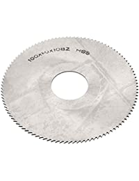 Tradico® 100mmx27mmx1mm 108 Teeth Silver Tone HSS High Speed Steel Slitting Saw Cutter Cutting Tool