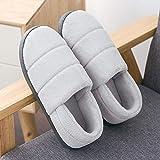 YSFU Hausschuhe Hausschuhe Frauen Einfarbig Bottom Soft Home Hausschuhe Warme Baumwolle Frauen Männer Slip-On Schuhe Für Schlafzimmer Haus, 43