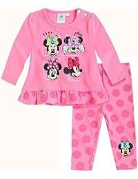 Disney Minnie Zweiteiler, Shirt+Leggings, Glitzerdruck, pink, Gr. 62-92