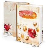 XXL Rezeptbuch zum Selberschreiben MON LIVRE de CUISINE orange rot Paprika Titel FRANZÖSISCH 164 Seiten + Register Meine Rezepte - Eigenes Kochbuch